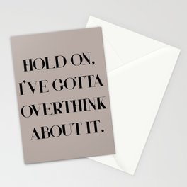 Overthinker Stationery Cards