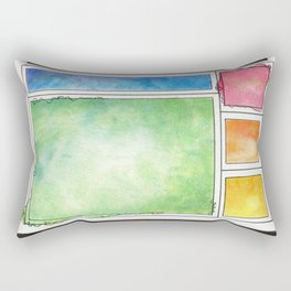 Rainbow Mondrian Rectangular Pillow