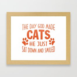 GOD MADE CATS Framed Art Print