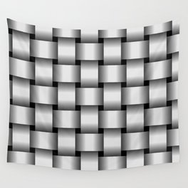 Large Pale Gray Weave Wall Tapestry