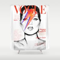 vogue Shower Curtains featuring VOGUE III by Irene D'Anto'