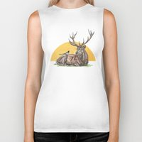 stag Biker Tanks featuring Stag by Meredith Mackworth-Praed