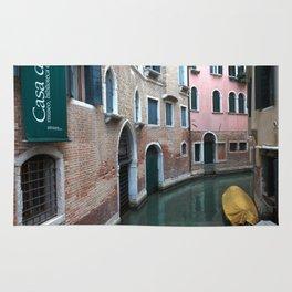 Venetian streets -canals .Carlo Galdoni Museum Rug