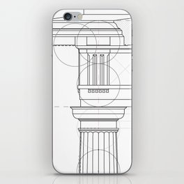 Roman doric order _type 1 iPhone Skin