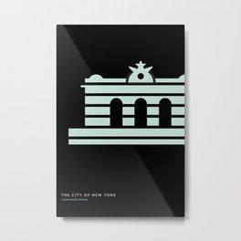 New York Skyline: Grand Central Terminal Metal Print