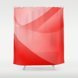 Red Wallpaper Shower Curtain