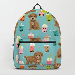 Bishpoo bubble tea kawaii food dog breed pet friendly pet portrait patterns Backpack