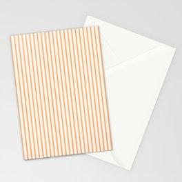 Bright Orange Russet Mattress Ticking Narrow Striped Pattern - Fall Fashion 2018 Stationery Cards