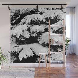 Snow Covered Fir Tree Wall Mural