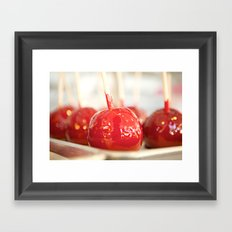 Candy Apples Framed Art Print