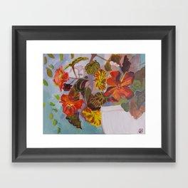 Red Geraniums Framed Art Print