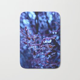 Ice-Covered Branches Bath Mat