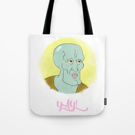 Handsome squidward Tote Bag