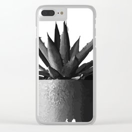 ''Nowhere Collection'' - Cacti Plant Print Clear iPhone Case