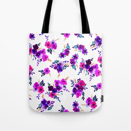 Ava Floral Purple Tote Bag