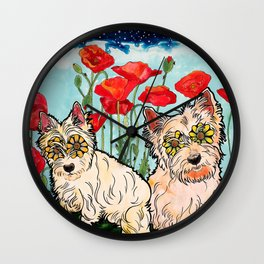 West Highland Terriers by RobiniArt Wall Clock
