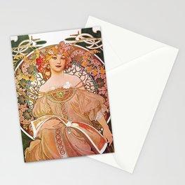 Reverie by Alphonse Mucha Stationery Cards