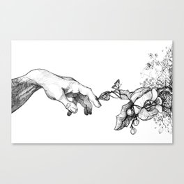 Touched by nature Canvas Print