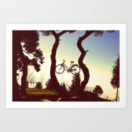 Bicycle Tree Art Print