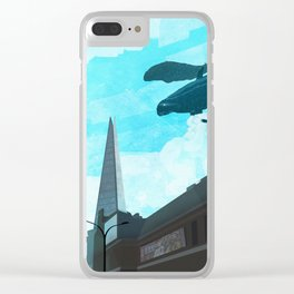 Whale in the Sky Clear iPhone Case