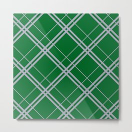 Slytherin Argyle Metal Print