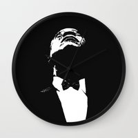 louis armstrong Wall Clocks featuring Louis Armstrong by William
