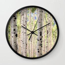 Dreamy Aspen Grove Wall Clock