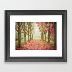 Scarlet Autumn Framed Art Print