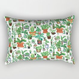 Bushwick Potted Plants Rectangular Pillow