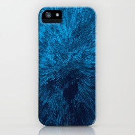 Bold Burst in Blue iPhone Case