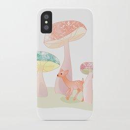 Mushrooms trees iPhone Case