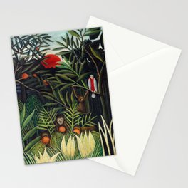 Henri Rousseau - Monkeys and Parrot in the Virgin Forest Stationery Cards