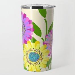 Three Fancy Flowers Travel Mug