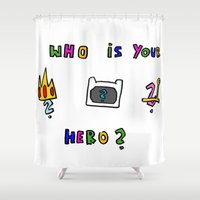 hero Shower Curtains featuring hero by Katharina Nachher