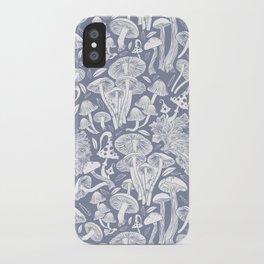Delicious Autumn botanical poison IV // blue grey background iPhone Case