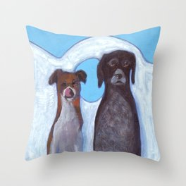 Dogs in Greece Throw Pillow