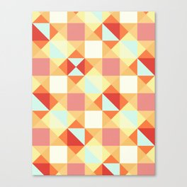 Autumn Breeze Triangle Pattern Canvas Print