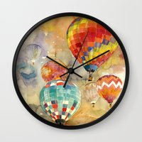 takmaj Wall Clocks featuring Balloons by takmaj