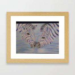 Zebra Love Framed Art Print