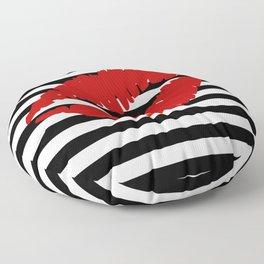 Red Lips 2 Floor Pillow