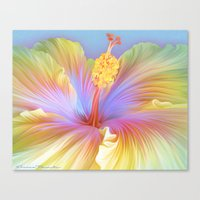 hibiscus Canvas Prints featuring Hibiscus by ShannonPosedenti