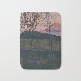 Egon Schiele - Setting Sun Bath Mat