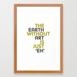 without art Framed Art Print