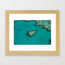 heart reef Framed Art Print