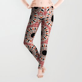 Black stars pattern Leggings