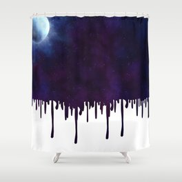 Painted Space Shower Curtain