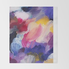 Robbie Abstract Painting Throw Blanket