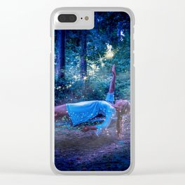 Woman Floating In Nature Clear iPhone Case