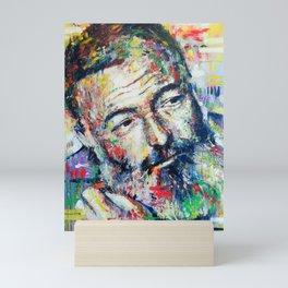 Ernest Hemingway Mini Art Print