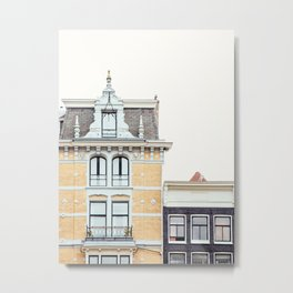 Dutch Baroque, Amsterdam Travel Photography Metal Print
